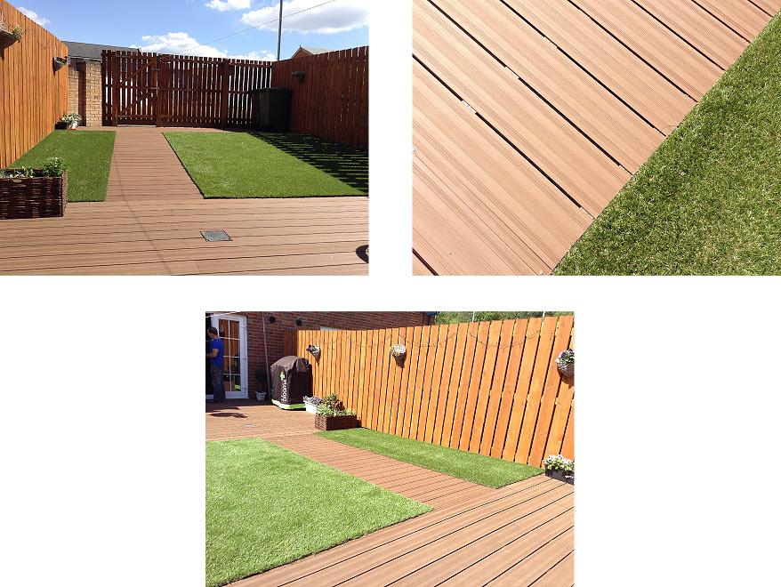 Composite decking and artificial grass in dumbarton for Garden decking glasgow